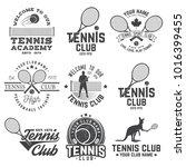 set of tennis club badges.... | Shutterstock .eps vector #1016399455