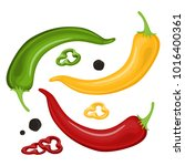 mexican jalapeno hot chili... | Shutterstock .eps vector #1016400361