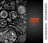 asian cuisine sketch collection.... | Shutterstock .eps vector #1016404324