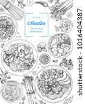 asian food engraved sketch.... | Shutterstock .eps vector #1016404387