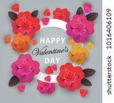 happy valentines day  heart...   Shutterstock . vector #1016406109