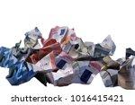 currency euro cash | Shutterstock . vector #1016415421