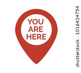 Stock vector marker location icon with you are here vector illustration 1016424754