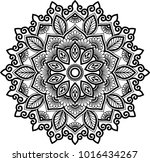 mandala pattern black and white ... | Shutterstock .eps vector #1016434267
