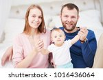 parenting family. mother and... | Shutterstock . vector #1016436064