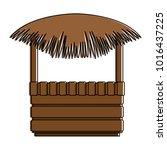 straw beach hut icon | Shutterstock .eps vector #1016437225