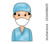 surgeon doctor avatar character ... | Shutterstock .eps vector #1016438635