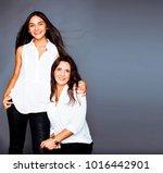 cute pretty teen daughter with... | Shutterstock . vector #1016442901