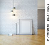 empty room with light and blank ... | Shutterstock . vector #1016445031