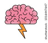 brain in side view with... | Shutterstock .eps vector #1016447647