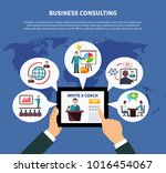 business online composition... | Shutterstock . vector #1016454067