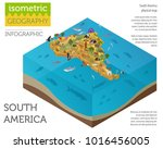 isometric 3d south america... | Shutterstock .eps vector #1016456005
