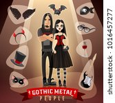gothic metal people subculture...   Shutterstock . vector #1016457277