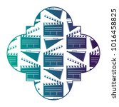 retro stamp with movie cinema...   Shutterstock .eps vector #1016458825