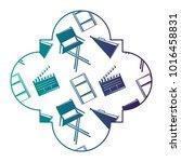 retro stamp with film movie...   Shutterstock .eps vector #1016458831