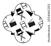 retro stamp with film movie...   Shutterstock .eps vector #1016461201