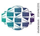 badge with movie cinema...   Shutterstock .eps vector #1016461231