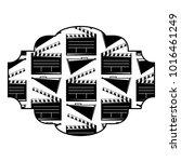 badge with movie cinema...   Shutterstock .eps vector #1016461249