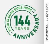 144 years anniversary logo... | Shutterstock .eps vector #1016464144