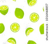 seamless pattern with slices... | Shutterstock .eps vector #1016468857
