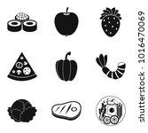 serving icons set. simple set... | Shutterstock .eps vector #1016470069