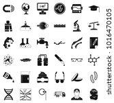 scientific widget icons set.... | Shutterstock .eps vector #1016470105