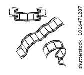 3d abstract film strips. vector ... | Shutterstock .eps vector #1016471287
