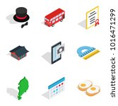 manners icons set. isometric... | Shutterstock .eps vector #1016471299