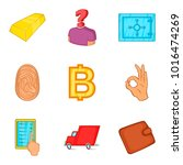 credit facility icons set.... | Shutterstock .eps vector #1016474269