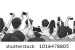 stylized drawing of party crowd ... | Shutterstock .eps vector #1016478805
