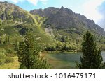 mountain lake popradske pleso... | Shutterstock . vector #1016479171