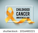 poster for childhood cancer... | Shutterstock .eps vector #1016483221