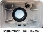 inside view of small underwater ... | Shutterstock . vector #1016487559