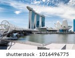 singapore city landscape at day ... | Shutterstock . vector #1016496775