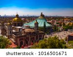 mexico. basilica of our lady of ... | Shutterstock . vector #1016501671