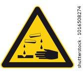 warning corrosive substances... | Shutterstock .eps vector #1016508274