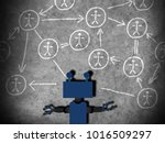 concept of machine learning to... | Shutterstock . vector #1016509297