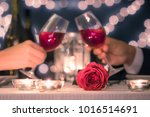 couple enjoying romantic candle ... | Shutterstock . vector #1016514691