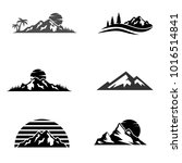set of vector mountain and... | Shutterstock .eps vector #1016514841
