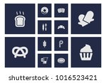 set of 12 cooking icons set.... | Shutterstock .eps vector #1016523421