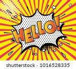 freehand drawn comic speech... | Shutterstock .eps vector #1016528335