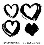 shapes of hearts. hand drawn... | Shutterstock .eps vector #1016528731