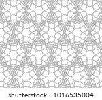 seamless vector pattern in... | Shutterstock .eps vector #1016535004