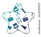 label star with film movie...   Shutterstock .eps vector #1016535925