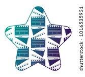 label star with movie cinema...   Shutterstock .eps vector #1016535931