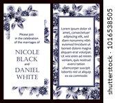 romantic invitation. wedding ... | Shutterstock . vector #1016538505