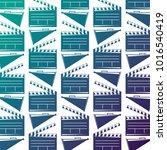 seamless pattern movie cinema...   Shutterstock .eps vector #1016540419