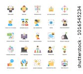 project management flat vector ... | Shutterstock .eps vector #1016545234