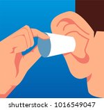 businessman plugged his ears | Shutterstock .eps vector #1016549047