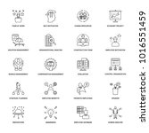 line icons project management  | Shutterstock .eps vector #1016551459